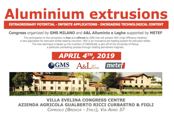 """ALLUMIUM EXTRUSION"" CONFERENCE<br> (Italy – Capriolo, BS)"